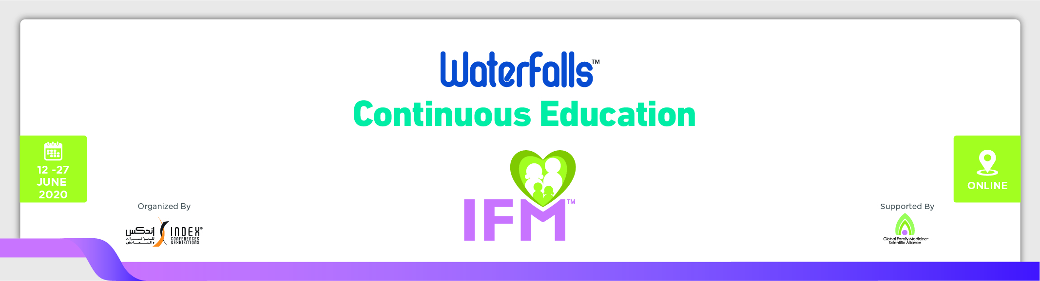 "IFM Waterfalls Webinar "" COVID 19 and the power of telemedicine"", (June 13)"
