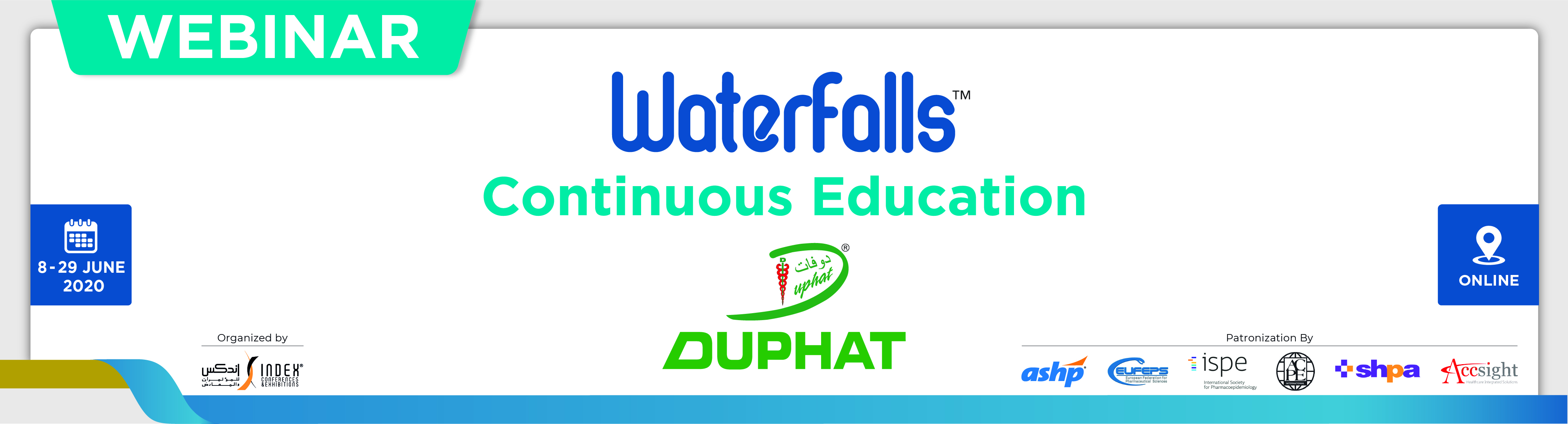 "DUPHAT Waterfalls Webinar ""COVID-19 Outbreak"", June 18 (17:00 - 18:00)"