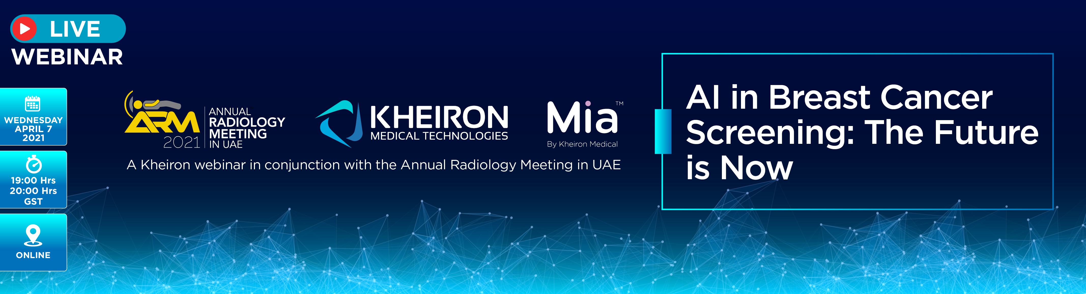 Kheiron webinar - AI in Breast Cancer Screening: The Future is Now - April 7, 19:00-20:00