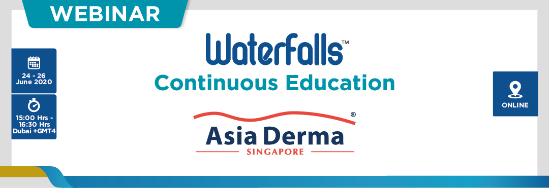 "Asia Derma Waterfalls Webinar ""Safe Dermatology Practice in Covid-19 Era"", June 24 (15:00-16:30)"