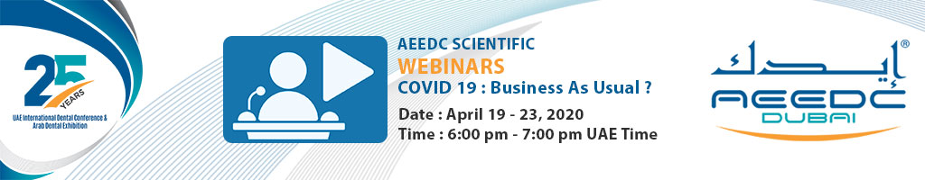 AEEDC Webinar 2020 : COVID 19 : Business As Usual ?